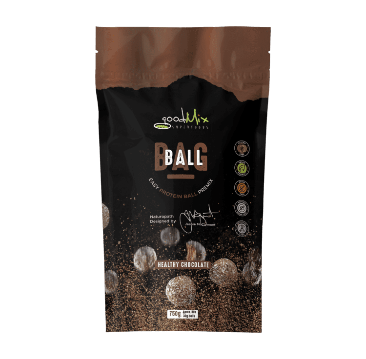 packet of raw, vegan, healthy protein balls mix - Ballbags | goodMix Superfoods
