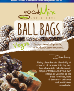 Protein Ball Mix | Vegan, Raw Protein Balls | BallBags | goodMix