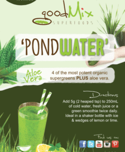 Pondwater Super Greens Powder label | goodMix Superfoods