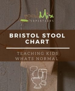 bristol stool chart - teaching kids what's normal | goodMix Superfoods
