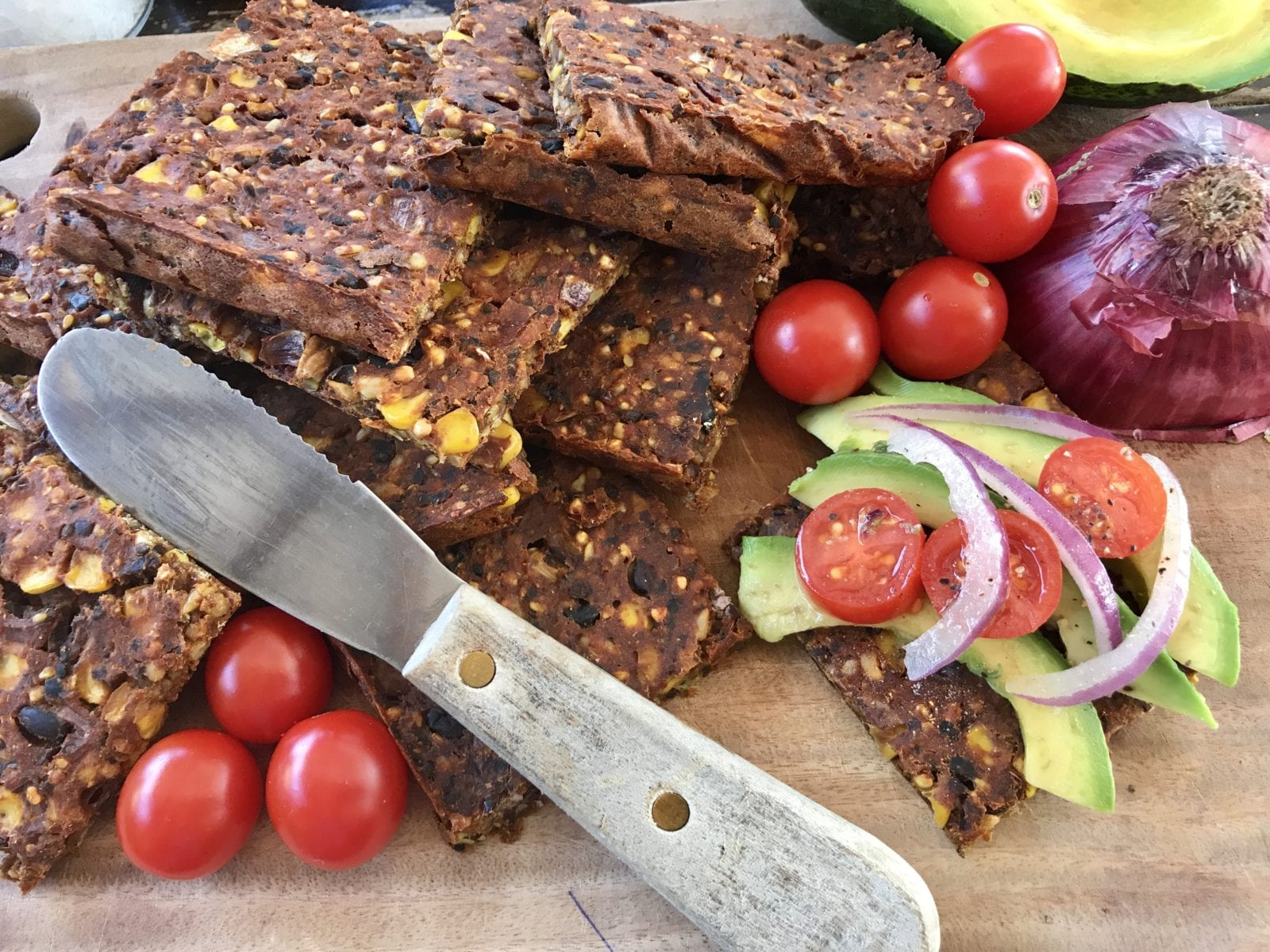 black bean and corn savoury slice | goodMix Superfoods