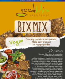 Gluten Free Crackers | Vegan Veggie Patties | BixMix | goodMix