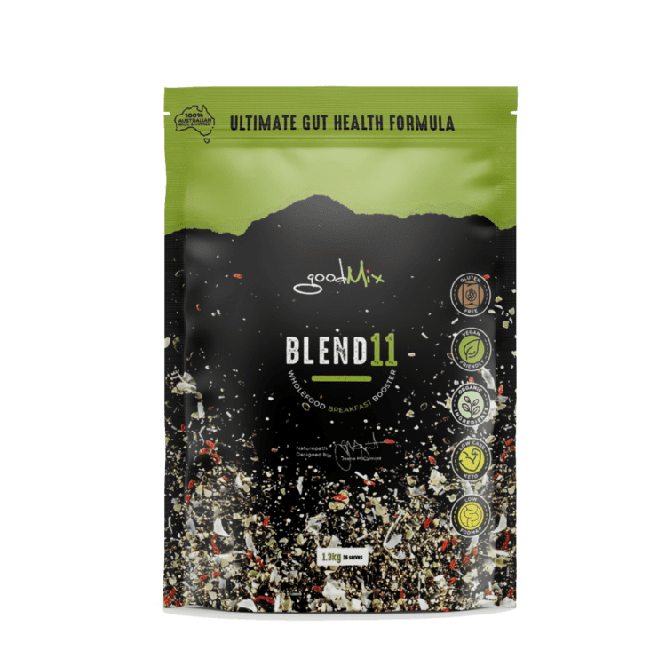 a 1.3kg pack of Blend11 gluten free, vegan bircher muesli mix by goodMix