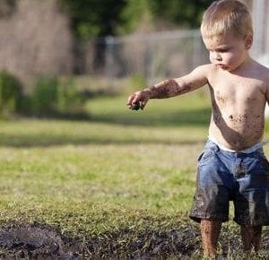 kids in the dirt