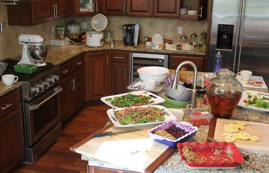lunch-for-twenty-people-messy-kitchen